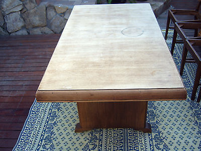 ART DECO Dining Table and 4 Chairs Vintage Restoration pickup Drummoyne NSW 2047