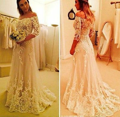 New White Ivory Wedding Dress Bridal Gown Custom Size 2 4 6 8 10 12 14 16++