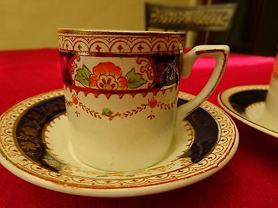 ALFRED MEAKIN CALEDONIA- RARE DEMITASSE, cup and saucer x 2, stunning