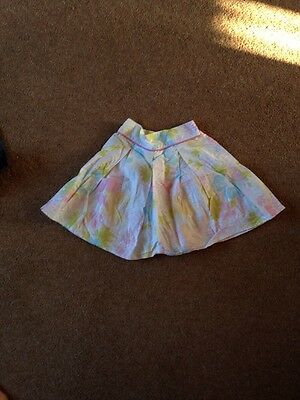Girls White / Floral Print Skirt From Next Age 3 Years