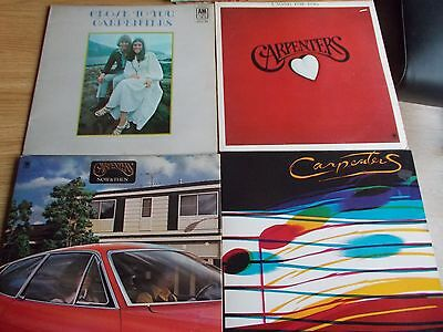 Eight Carpenters Vinyl Lp's Lovely Condition.
