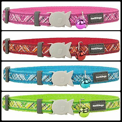 Red Dingo Cat Collar With Bell - Choice Of Colours & Patterns