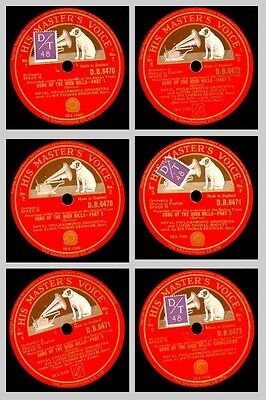 ROYAL PHILHARM. ORCH. & BEECHAM Delius: Song of the high hills    3x 78rpm GS614