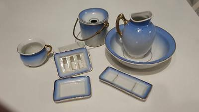 ANTIQUE EARLY 1900s  FRENCH DOLLS TOILETTE WASH SET