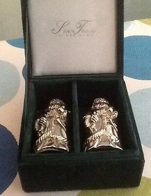 Godinger Silver Treasures Father Christmas salt and pepper set in box 1994 vgc