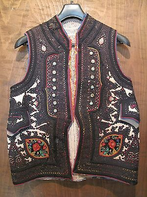 Vintage old 19C traditional Bulgaria Festival Ethnography Vest beautiful motives