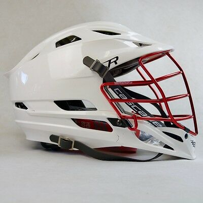 Cascade R - RED CHROME Facemask - Lacrosse Helmet