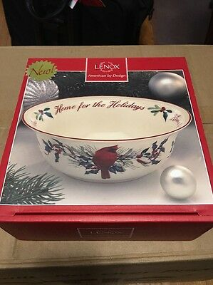 Lenox Winter Greetings Home For The Holidays Bowl
