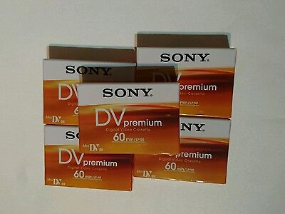 Sony Premium Dvm60 Mini Dv Tapes / Cassettes - Pack Of 5