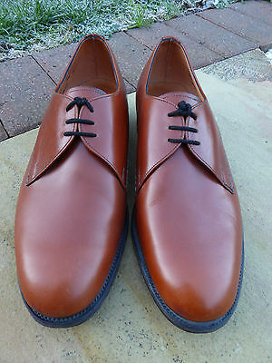 Mens BOSTONIAN Leather Sole THORPE Lace-up SHOES. Brown. Made In ENGLAND. UK 7.