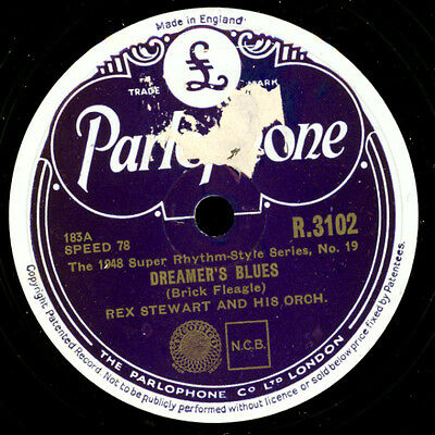 REX STEWART & HIS ORCHESTRA Dreamer's Blues / Shady Side of the Stree 78rpm X195