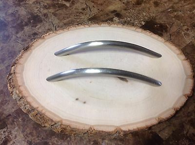 524 VTG MidCentury Large Handles In A Stainless Steel. Set Of 2