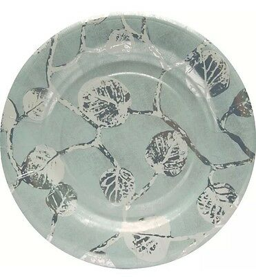 "Madhouse By Michael Aram 8"" Botanical Leaf Fine Paper Luncheon Plate Set of *32*"