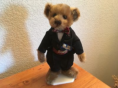 Pickford Brass Button DEX 2000 20th Century Collectible Teddy Bear FULLY JOINTED