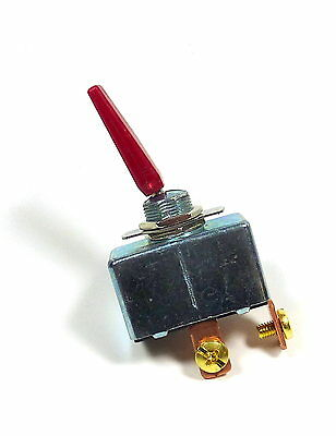Philmore Automotive Toggle Switch , SPST On-Off Red Actuator 50A 12VDC Marine