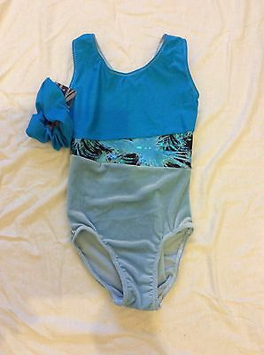 New Velvet Leotard Gymnastic Trampoline Dance Size 26 (5-6 Years)