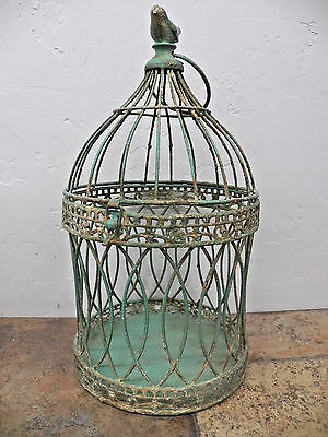 """CLEARANCE Antique-Look  15"""" x 9"""" Birdcage Cage Wedding Card Holder Planter"""