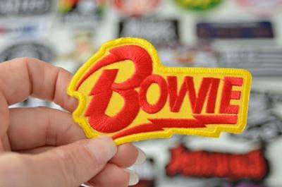 BOWIE Red Yellow Starman Music Retro Singer Cloth Patch Iron/Sew On Patches