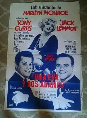 1959 SOME LIKE IT HOT Marilyn Monroe ARGENTINA one-sheet!
