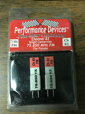 Performance Devices Crystals 75MHz FM Channel 83 - 75.850 MHz For Futaba
