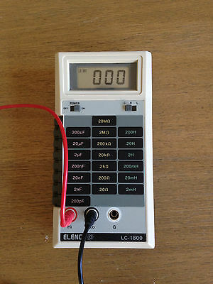 Elenco LC 1800 LCR meter Range 200 pF to 200 uF,  20 ohm to 20M ohm, 2mH to 200H