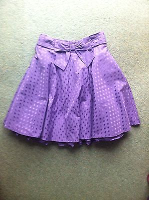 Girl's Autograph Mark & Spencer Purple Spotted Party Skirt Tutu - Age 10 - VGC