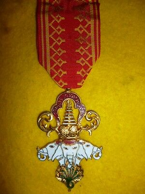 French - Laos - Order of the Million Elephants & White Parasol Knight's Medal