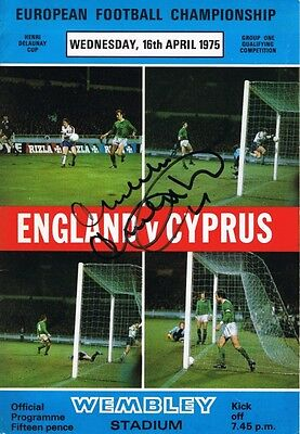 Signed Malcolm Macdonald England v Cyprus Autograph Programme + proof Newcastle