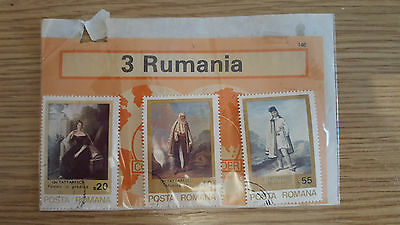 Pack of 3 Romania Paintings Stamps Used