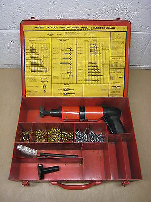 Hilti DX400B DX400 Powder Actuated Fastener Tool w/ Metal Case Free Shipping