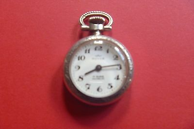 """Silver """" ROYCE  17 Rubis  Incabloc""""  FobPendant Pocket Watch Swiss made WORKING"""