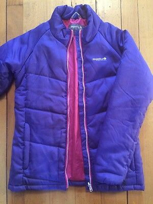 Regatta Girls Age 14. Years (32inch) Purple Warm Showerproof Coat (or Size 6)