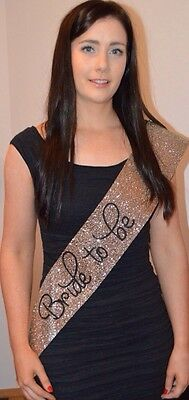 Hen Party Sash - Bridal Shower - Bride To Be - Classy Gold Glitter