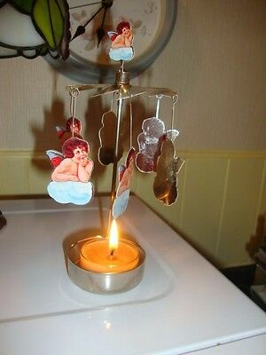 Christmas Painted Cherubs Candle Carousel Germany