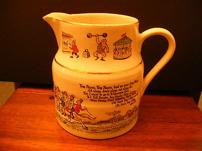 Antique Lord Nelson Pottery Widecombe Fair Jug Pitcher