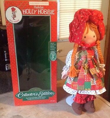 Holiday Holly Hobbie Collector's Edition Doll, w/Ornament, 1988, In Box!