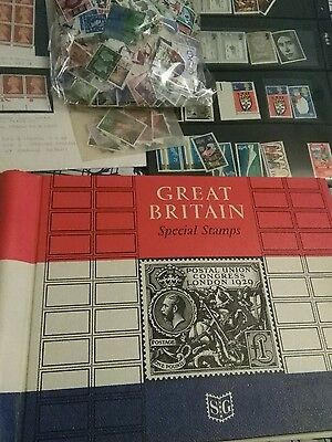 LARGE amount GB  STAMPS off-  Paper - to include Stanley Gibbon album