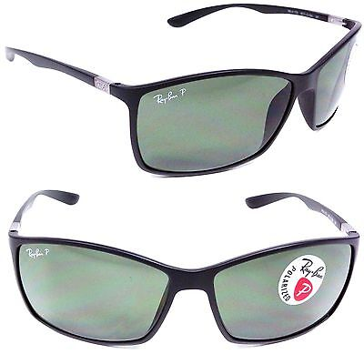 34183ecdf3 NEW RAY BAN Liteforce RB 4179 601S 9A Matte Black w  Green Polarized Lens