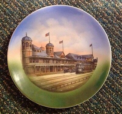 Vintage CASINO at HAMPTON BEACH, N.H. w/Trolley Car Souvenir PLATE