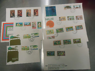 Niue Cook Islands First Day Cover Collection X 9 Covers 1970's  Lot4