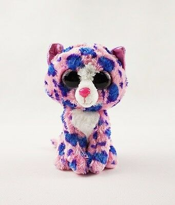 """6"""" Reagan Ty Beanie Boos Pink Spotted Cat Leopard Plush Stuffed Animals Toys"""