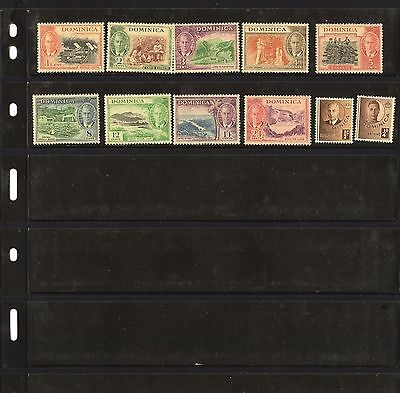 Dominica  1951 New Currency    10 of 15 Part set MLH