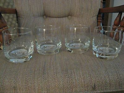 JACK DANIEL'S OLD No. 7 BRAND DRINKING GLASSES / SET OF 4