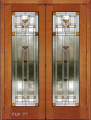 Beautiful Traditional  interior Stain glass doors FLW 77