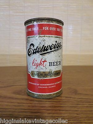 Vintage Edelweiss Light A Case of Good Judgement Flat Top Beer Can