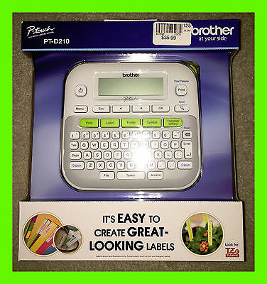 Brother P-Touch PT-D210 Label Thermal Printer / Label Maker with 1 tape