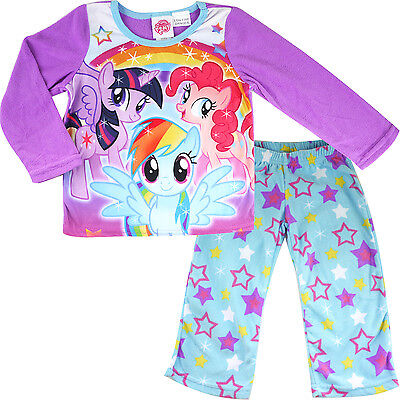 new kids Girls My Little Pony winter pyjama pjs micro fleece size 4-8 sleepwear