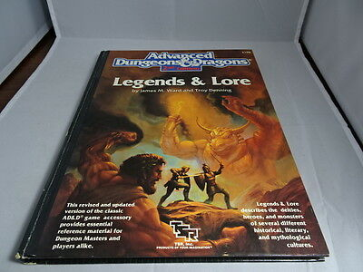 AD&D 2nd Edition 1990 LEGENDS & LORE Advanced Dungeons and Dragons TSR 2108