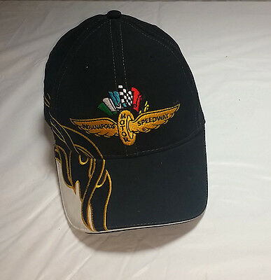 Indianapolis Motor Speedway Black Baseball Cap 100% Cotton, Adjustable Brickyard