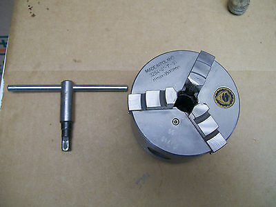 """Bison Chuck 3284 4"""" with 1""""-10 for Atlas 618 or Craftsman 101"""
